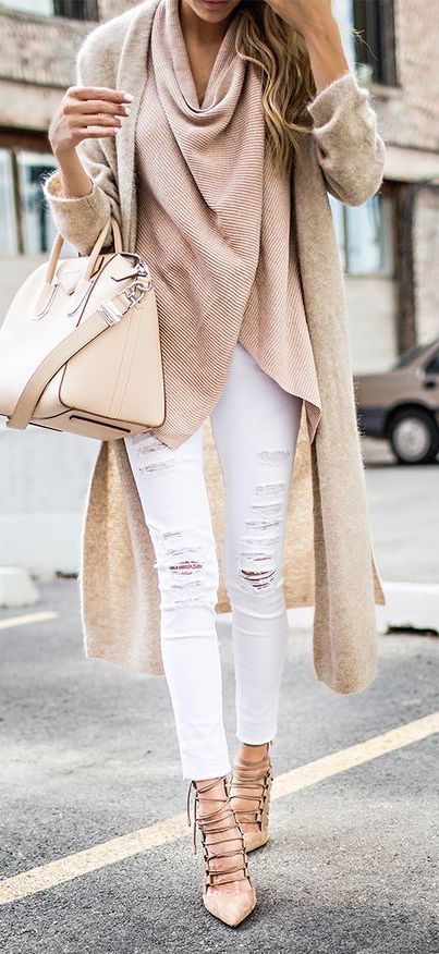 #fall #fashion / camel knit layers