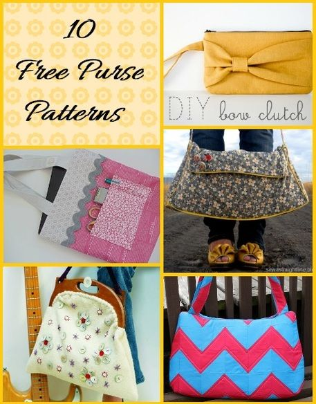 It's in the Bag: 10 Free Purse Sewing Patterns
