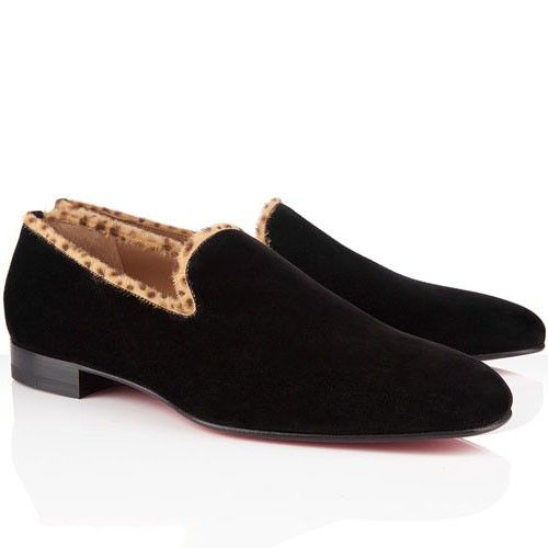 Christian Louboutin 2015 Daddy Suede Noir Chaussure Homme 105,00 \u20ac