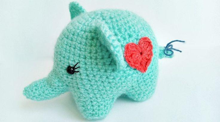 szydełłko słoń
