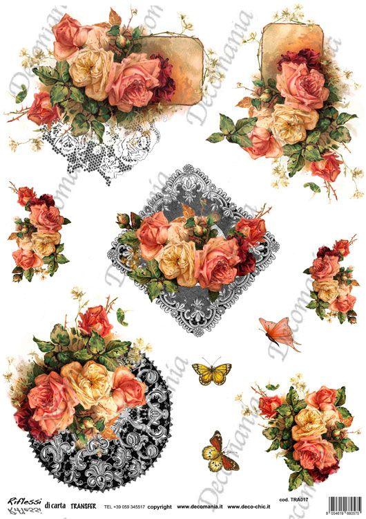 Codice: TRA017 Carta con disegni a colori ideale per il trasferimento d'immagine con l'utilizzo della soluzione DecoTRANSFERmania. DEC: LIQ125   Formato A3 ( 295x420 mm)  www.deco-chic.it