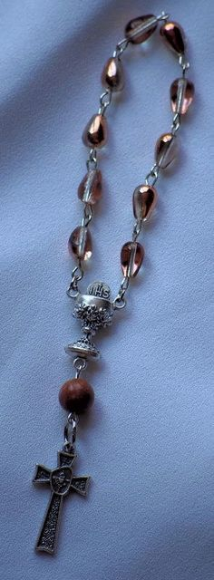 Teardrop One Decade Rosary by AllToolsPrayerful on Etsy