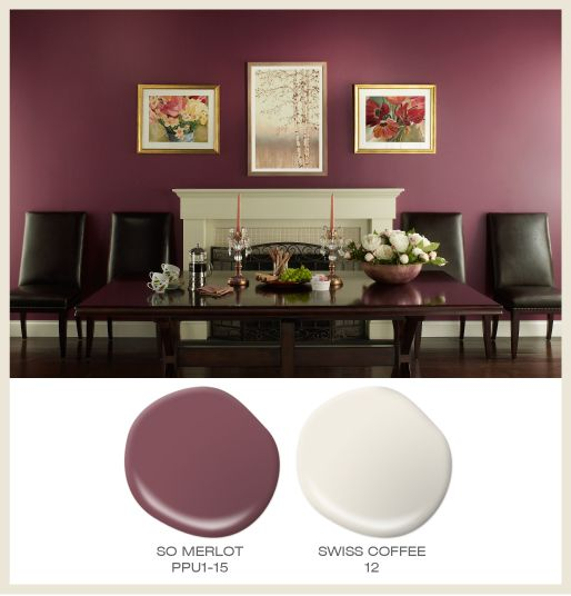 Color Of The Month Berry Red Featured BehrPaint Room Colors So Merlot