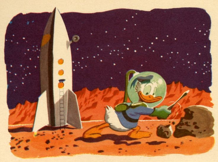 Donald Duck On The Moon