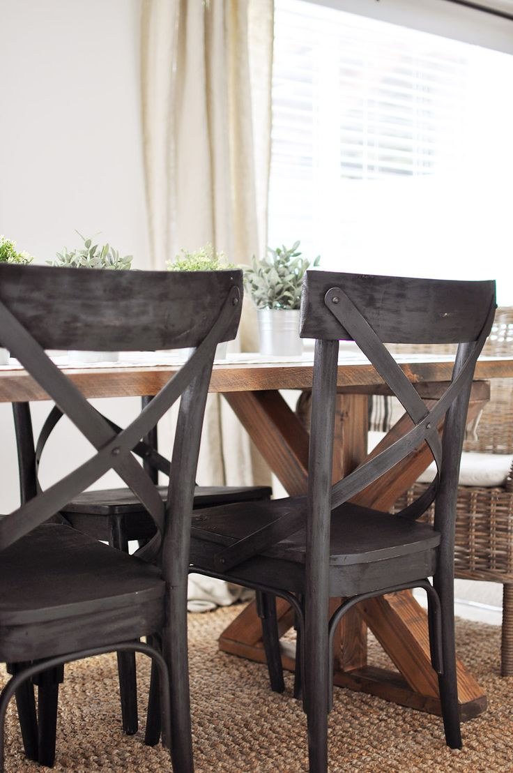 X Brace Farmhouse Table Farmhouse chairs, Farmhouse