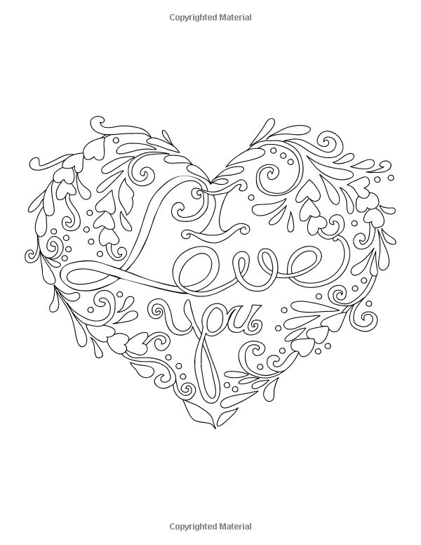 977 best Colouring pages images on Pinterest Coloring pages - new love heart coloring pages to print