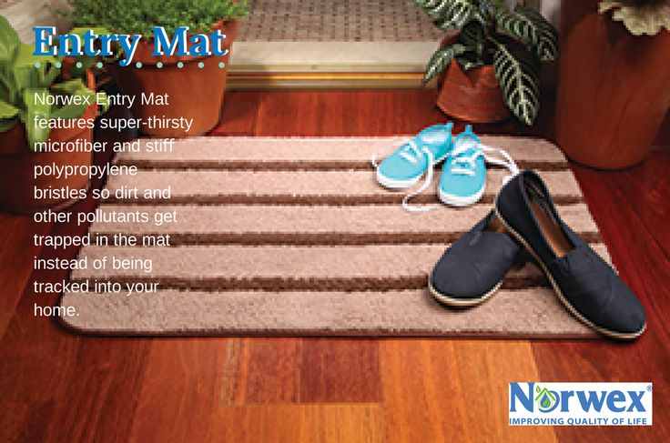 "What's the best kind of dirt? The kind that stays outside!85% of contaminants are brought into the home in the first 4 steps! Our Entry Mat features super-thirsty microfiber and stiff polypropylene bristles so dirt and other pollutants get trapped in the mat instead of being tracked into your home. Use the NorwexRubber Brush to keep it looking fresh between washings. To launder, toss in washing machine. Air-dry. 50.8cm x 76.2cm / 20"" x 30"" Item #: 356510"