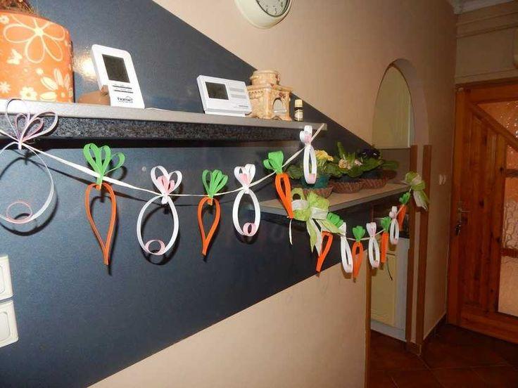 Húsvéti papírszalag girland - Lurkovarázs.hu - Kreatív feladatok gyerekeknek