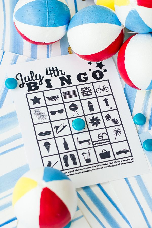 Free Printable July 4th Bingo 311 best