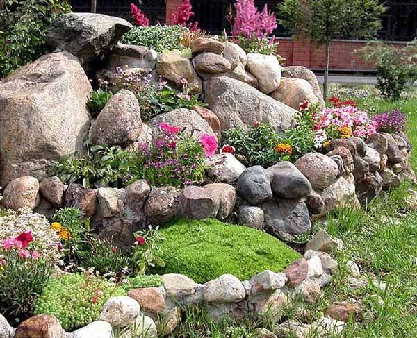 rocks and flowers landscaping | Rock Garden Design Tips, 15 Rocks Garden Landscape Ideas