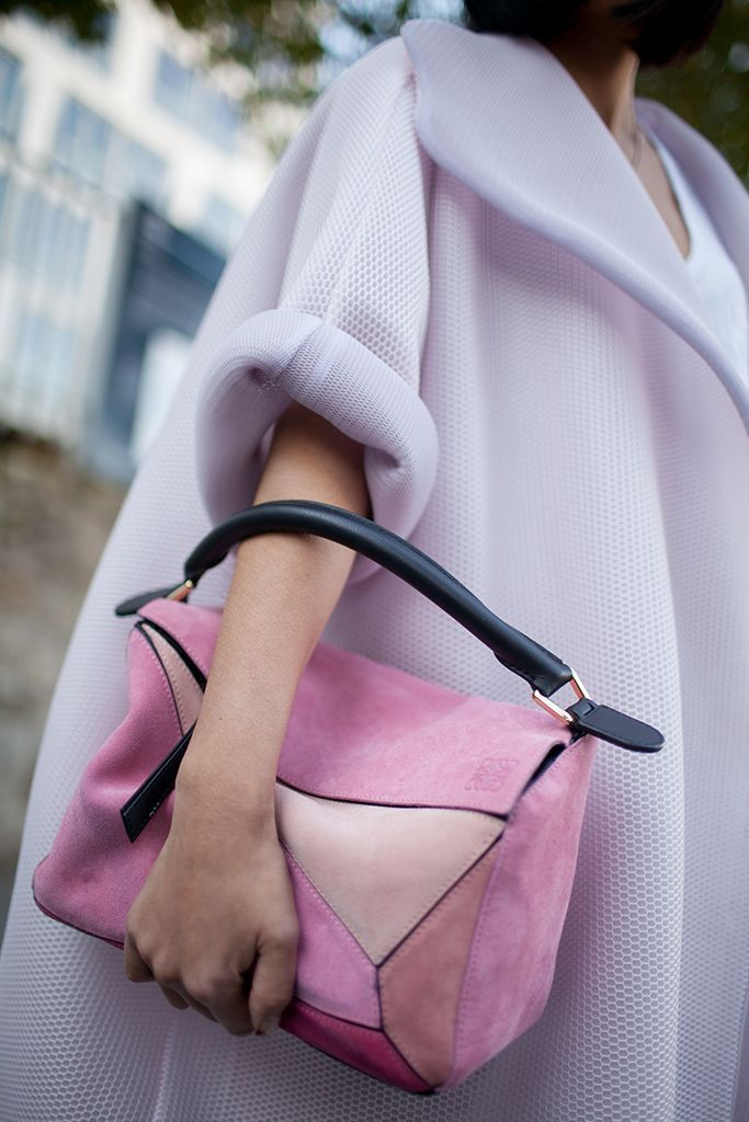 The best of street style during Milan Fashion Week 2016. Loewe Bag