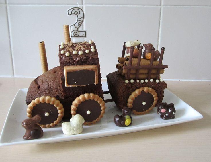 gâteau tracteur pour l'anniversaire de mon petit garçon