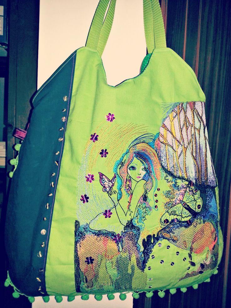 autumn lady shoulder bag