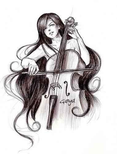 Cello art. Pretty!