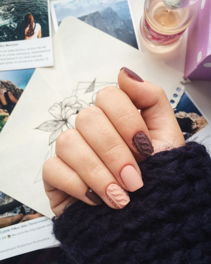 Sweater Nail Art  #nail #матовые #sweater