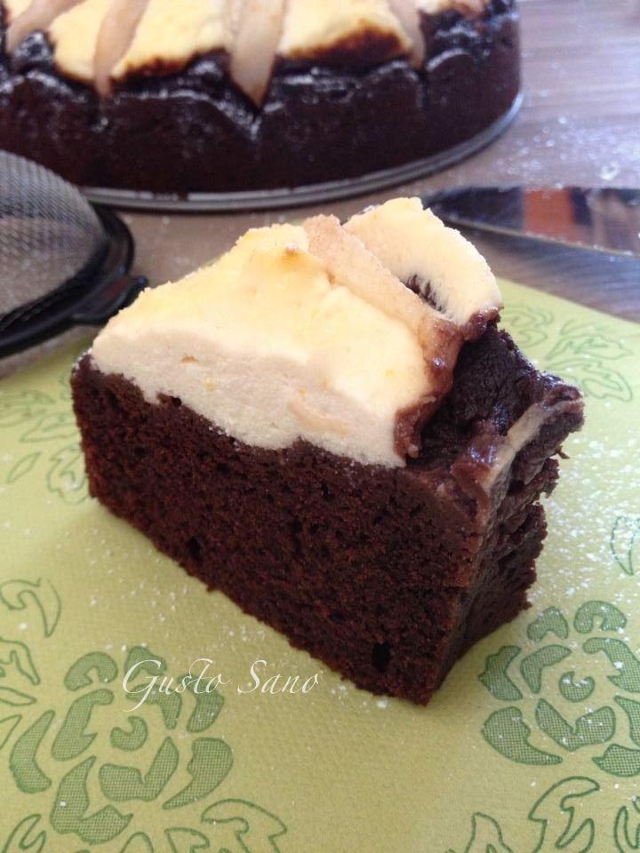 Ricetta: Torta al cacao con ricotta e pere, senza burro e latte