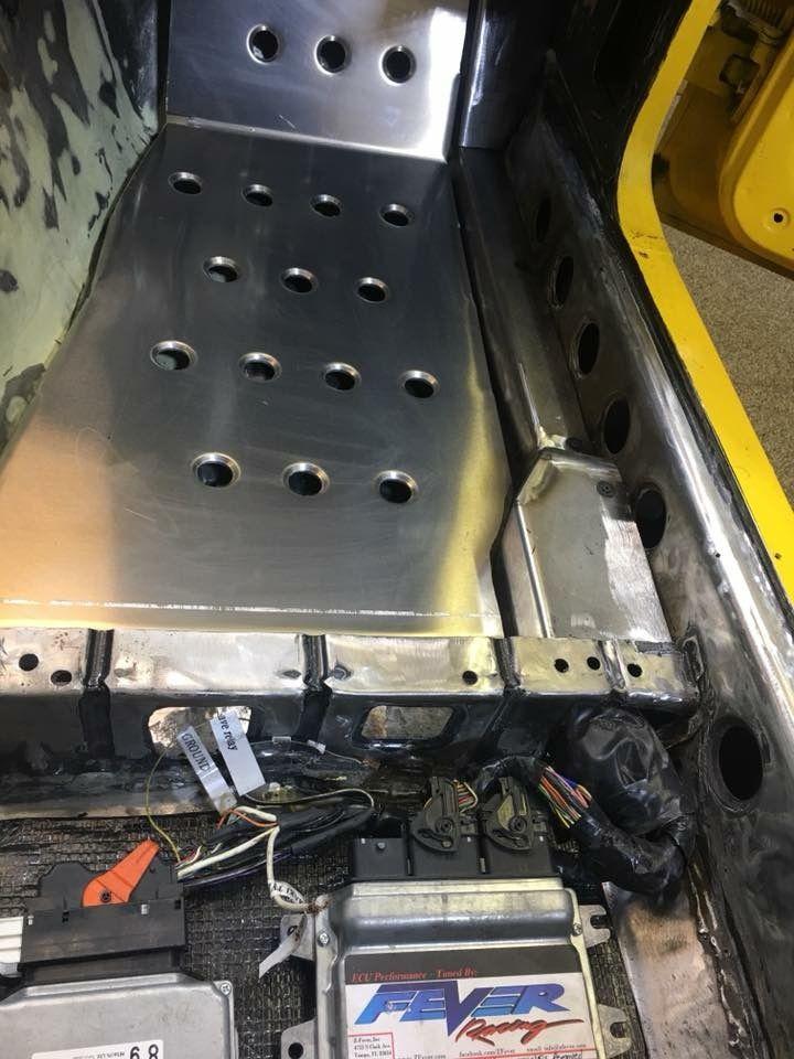 Race Plate Floor Pan Datsun 240z 260z 280z Aluminum Dimple
