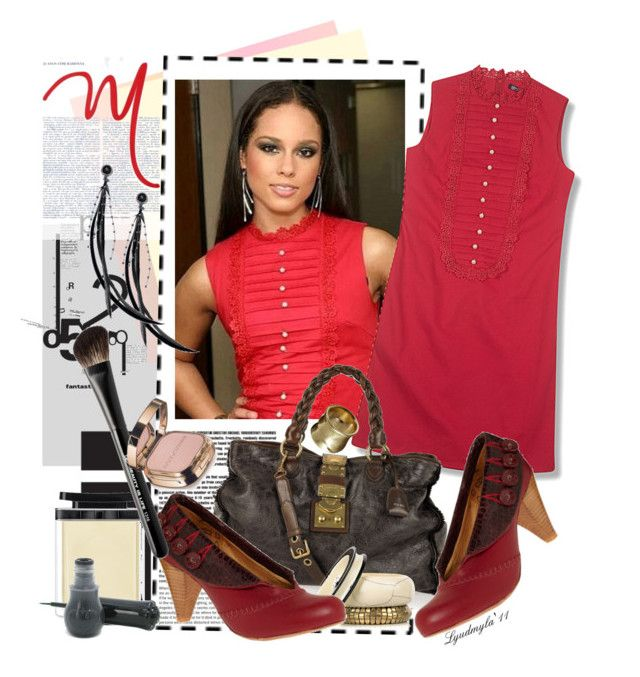 """""""Alicia Keys - little red dress"""" by lyudmyla ❤ liked on Polyvore featuring Equipment, Hayden-Harnett, Miu Miu, DAY Birger et Mikkelsen, Marc Jacobs, Beauty Is Life, Dolce&Gabbana, Anna Sui, Kenneth Cole and alicia keys"""
