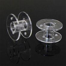 20 шт. Ясно, Пустые Пластиковые Катушки Для Brother Janome Singer Швейные Машины IUT6523(China (Mainland))