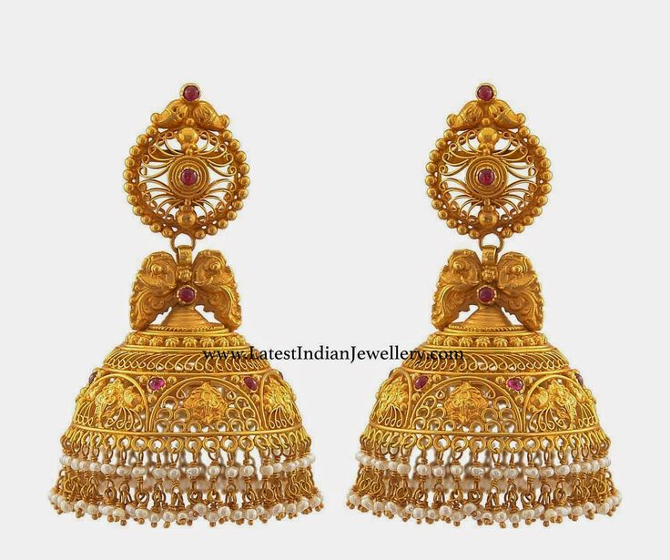 jhumka designs in gold - Google Search