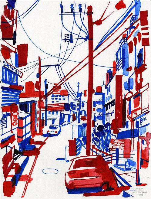 Im Buch »Souvenir« zeigt Christoph Niemann seine Zeichenkunst mal von eher ungewohnter Seite. Zu Deutschlands beliebtestem Zeichner wurde Christoph Niemann durch den Witz, den seine Bilder normalerweise verströmen. Der neue Band »Souvenir«, der gerade bei Diogenes erschien, kommt eher stimmungsvoll oder auch mal poetisch daher – sogar wenn es Ansichten von Straßenschluchten in New York, Tokio oder Hongkong sind....