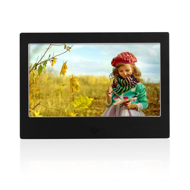 Ultra-Thin+Narrow+Bezel+HD+7+inch+Digital+Photo+Frame+Electronic+Photo+Album+High+Resolution+Digital+Photo+Frame+With+Auto+On/Off+Timer,+MP3+and+Video+Player+(Black) - $51.25
