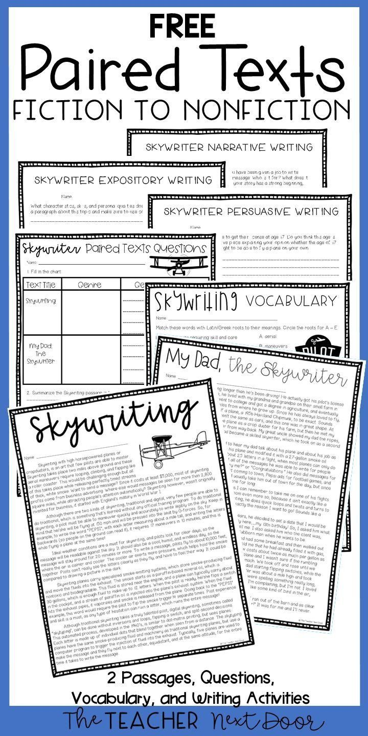 Story Structure Worksheets 4th Grade Paired Texts Freebie For 4th 6th Grades In 2020 Reading Comprehension Worksheets 6th Grade Reading Reading Comprehension