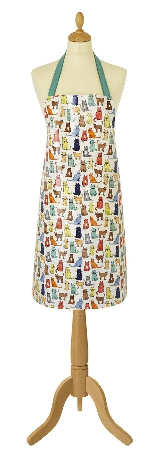 A stylish apron destined for cat lovers.