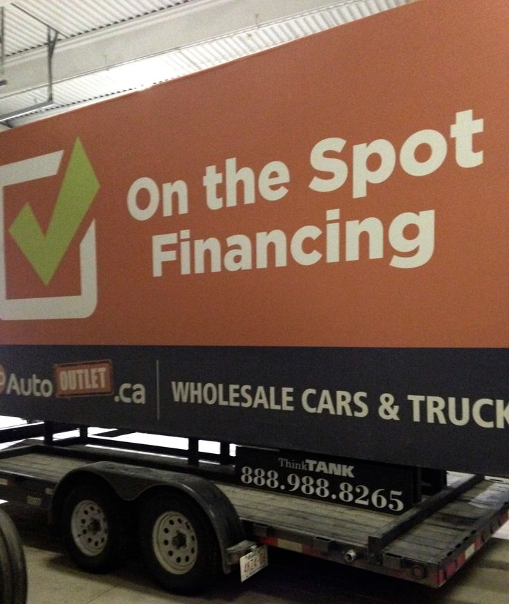 Go Auto Outlet's Trailer Billboard is ready to be deployed again after a post-holiday makeover #mobilebillboards #outdooradvertising #alternativeadvertising #outofhomemarketing