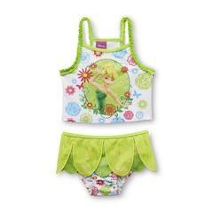 Toddler Girl's Tankini Swim Top & Bottoms - Tinker Bell - Kmart