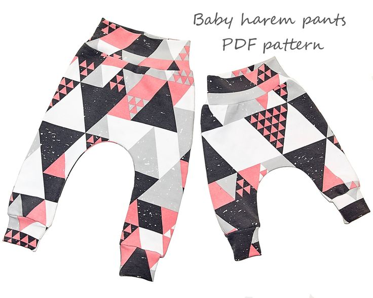 This is an easy baby harem pants pattern with real color step-by-step instructions. Stitching lines are diagrammed right on to the photos so you never need to guess where to sew. You do not need a serger for this pattern. BUY 2 OF MY PATTERNS AND GET 10% OFF - coupon code BUY2ANDGET10 BUY 3 OF MY