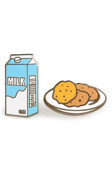 PINTRILL 'Milk & Cookies' Fashion Accessory Pins (Set of 2)