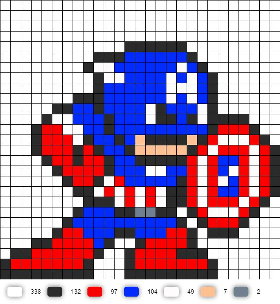 captain america perler bead pattern arts and crafts