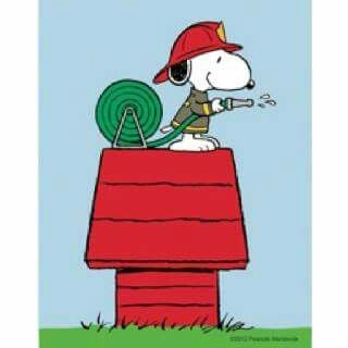Firefighter Snoopy