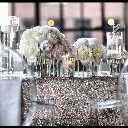 Silver Sparkle Tablecloth
