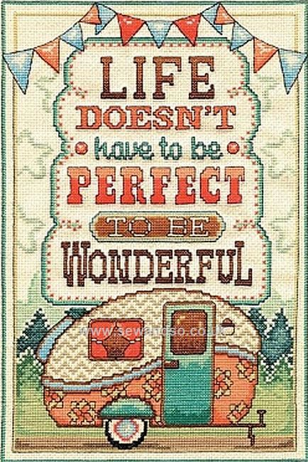 Buy Wonderful Life Cross Stitch Kit Online at www.sewandso.co.uk
