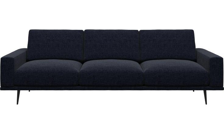 Sofy 3-osobowe - sofa Carlton - Niebieski - Tkanina