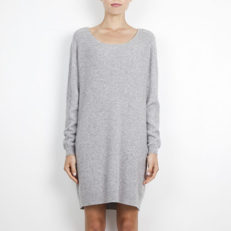 Rena Rbbed Cashmere Tunic in Aberdeen Grey | Arela