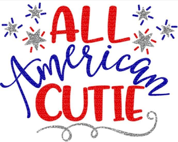 Download All American Cutie SVG File   Cricut explore projects ...