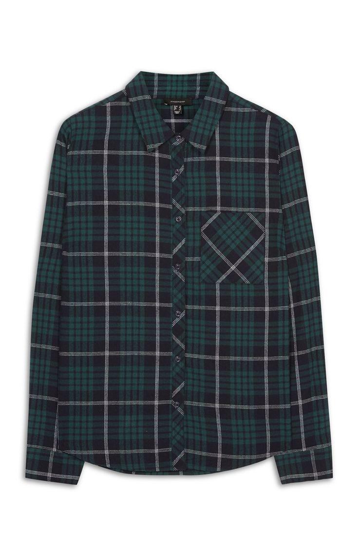 Primark - Groen geruit overhemd