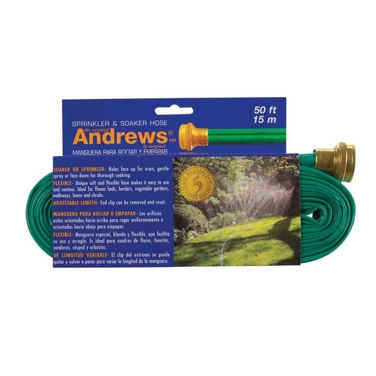 Andrews 10-12348 Sprinkler Hose, 50', Vinyl, Green