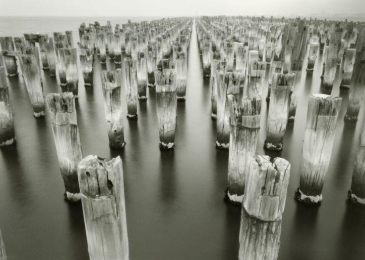 Princes Pier, Melbourne. Silver gelatin photograph from 5x7 pinhole negative.
