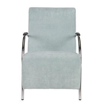 WOOOD fauteuil Halifax ribcord poederblauw kopen?  Fauteuils   KARWEI