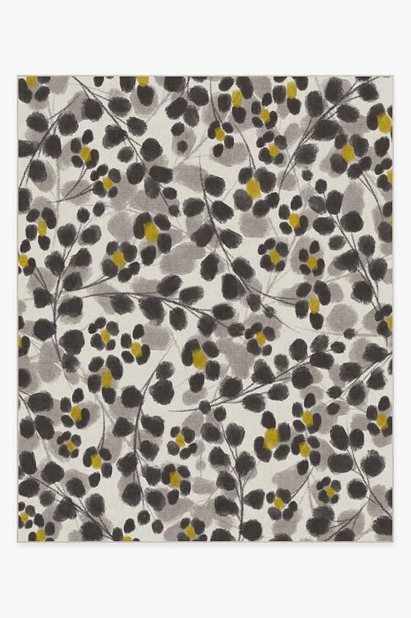 Rosette Yellow Rug In 2019 Yellow Rug Washable Rugs