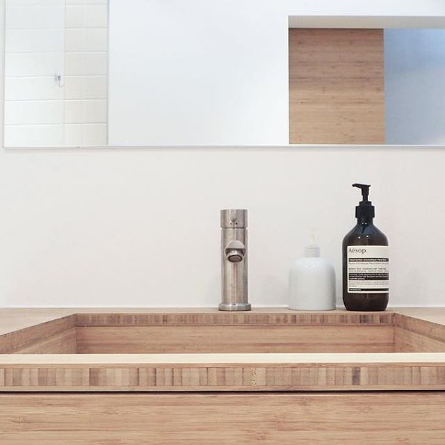 Close up | Bamboo bathroomfurniture