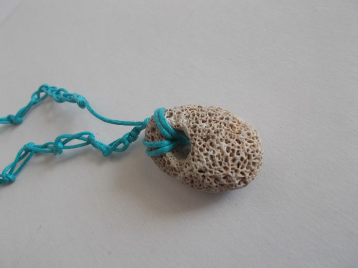 #beachjewelry small oval stone by mademeathens