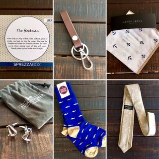 #SprezzaBox Review July 2017 + SprezzaBox Coupon: Thiswater season box features6 items for a total retail value of $146.95. Sign-up here for only $28 per month.  #menstyle #subbox  #mensaccessories #mensfashion #lifestyle #men #reviews #socks #coupon #neckties #sharks #nautical #anchors #sharksocks #sailboats #stylishcufflinks #getreadyforsummer #sailing #accessories #giftsformen #manbox #subscriptionbox #boxesformen #giftguide #forhim