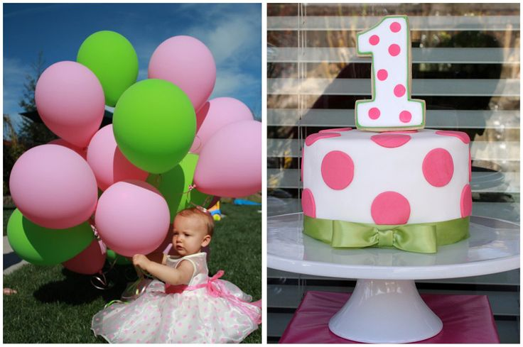 Polka Dot Sweet Shoppe 1st Birthday Party | Pizzazzerie