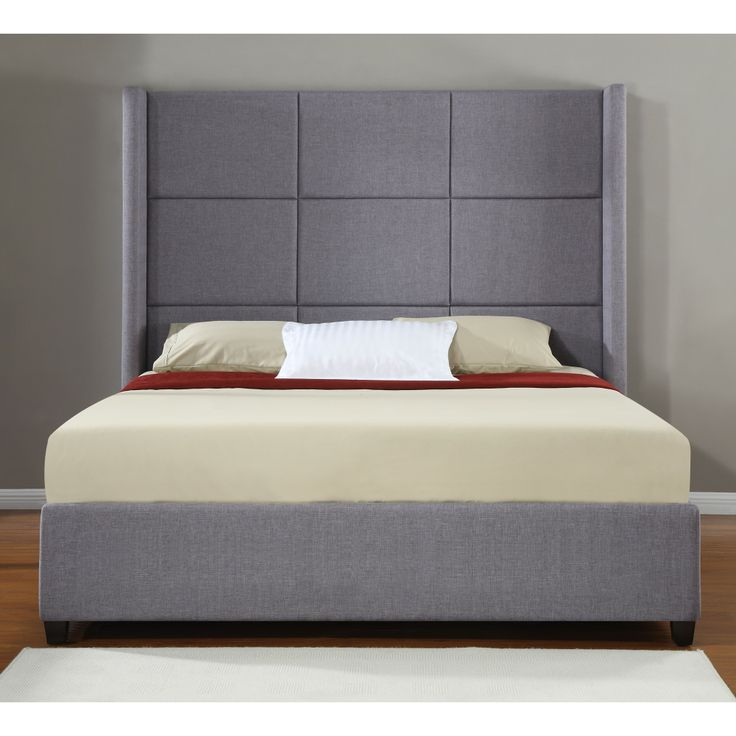 Jillian Upholstered King-size Bed | Overstock.com Shopping - Great Deals on Beds