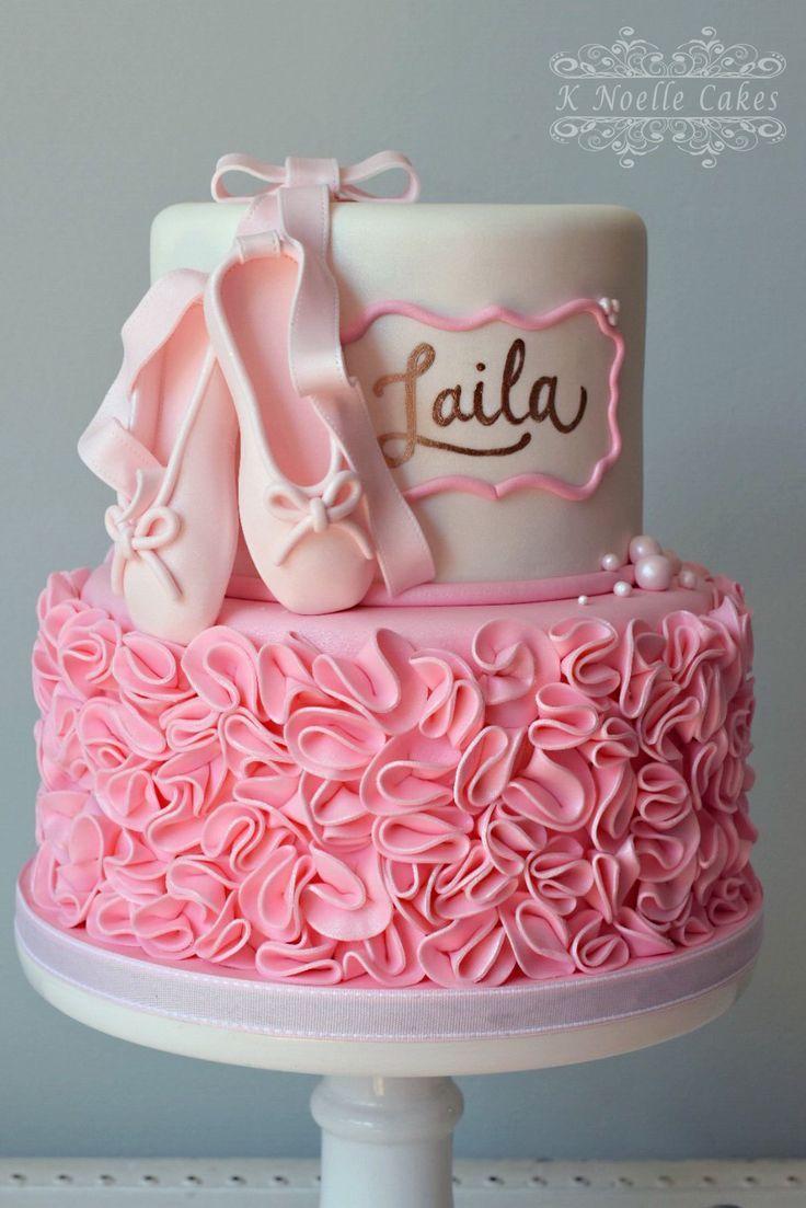 Ballerina Thema Geburtstagstorte von K Noelle Cakes   – Baby Shower idea (GIRL)